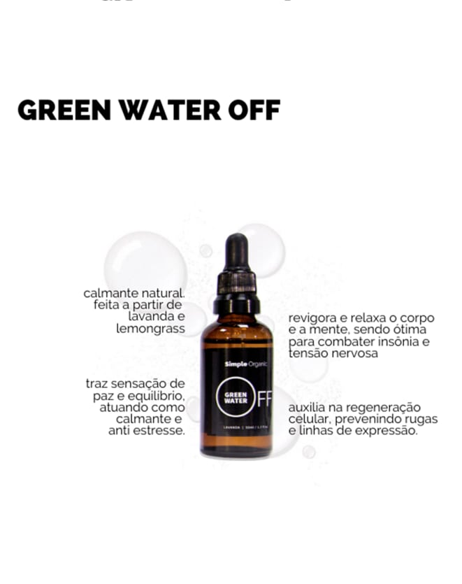 SIMPLE ORGANIC GREEN WATER OFF