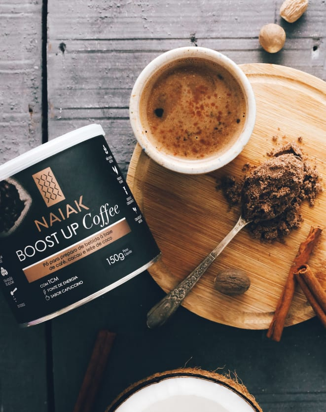 NAIAK BOOST UP COFFEE SABOR CAPPUCCINO -150G