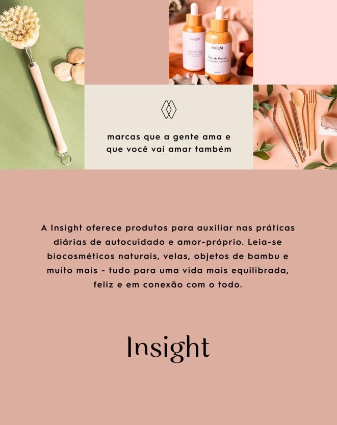 INSIGHT VELA NATURAL  + CRISTAIS + PLACA DE ÁGATHA
