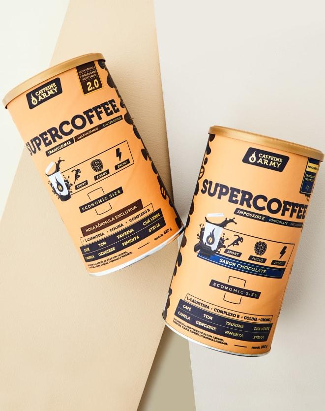 CAFFEINE ARMY SUPERCOFFEE ECONOMIC SIZE CHOCOLATE - 380G