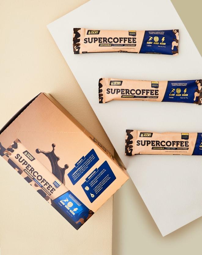 CAFFEINE ARMY SUPERCOFFEE DISPLAY CHOCOLATE - 140G